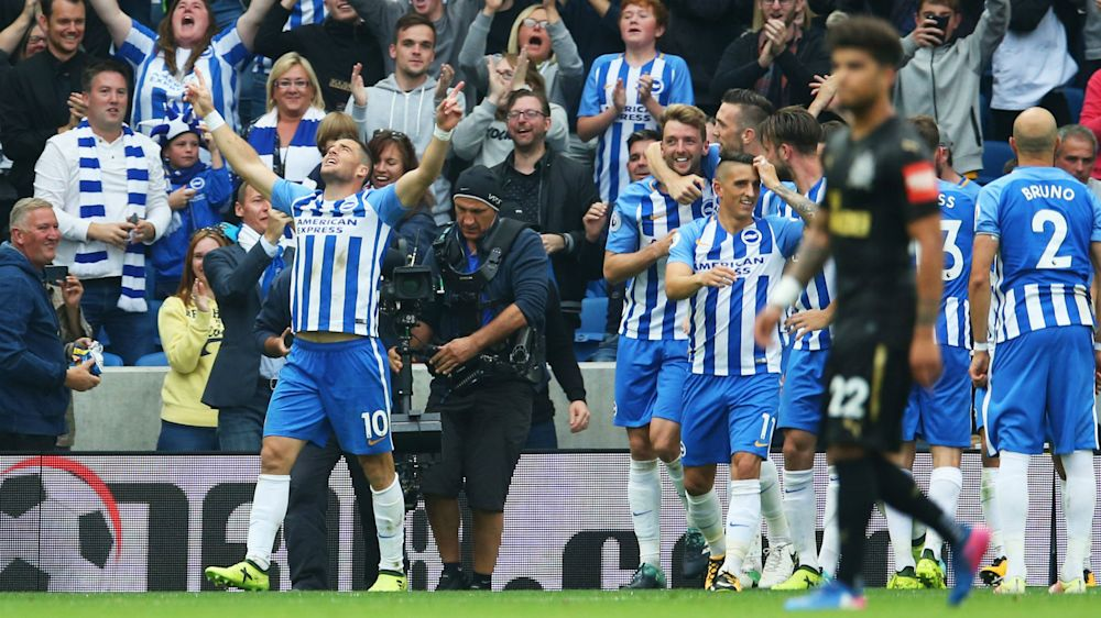 Brighton and Hove Albion 1 Newcastle United 0: Hemed the hero in second home win