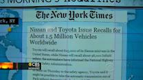 Headlines: Toyota and Nissan to recall 1.5M vehicles