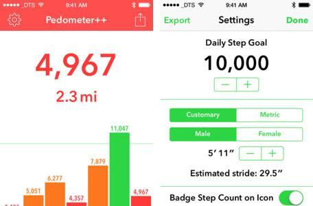 Daily App: Pedometer++ is a step logger for people who prefer things simple