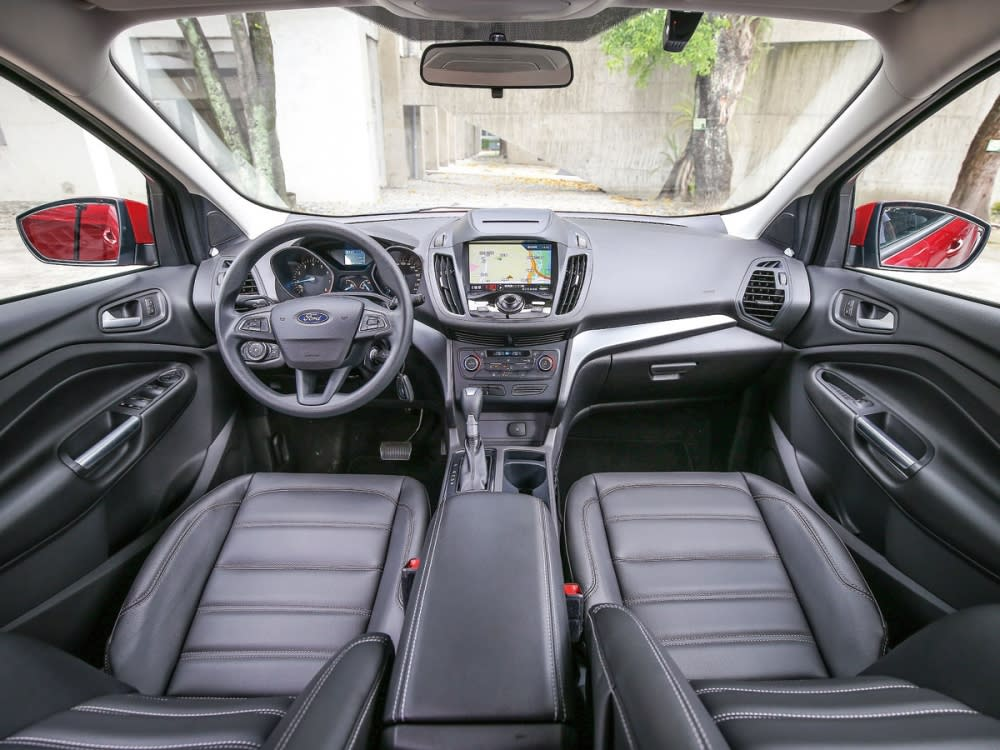 New Ford Kuga安全領航版再升級全車高質感皮質座椅,搭配左右獨立雙域恆溫空調,打造舒適的座艙體驗。