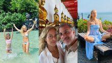 Angélica e Luciano Huck abrem o álbum da viagem à Tailândia