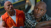 Guerra de músculos: Tyrese Gibson culpa a Dwayne Johnson por el retraso de Fast and Furious