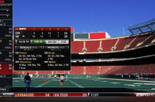 ESPN launches ScoreCenter for connected TVs on Samsung's App Store - Update: Better screenshots