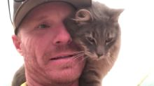Cat Finds Forever Friend In Firefighter Who Saved Her From California Wildfires