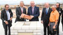 Grundstein für drittes Flughafen-Terminal in Frankfurt gelegt