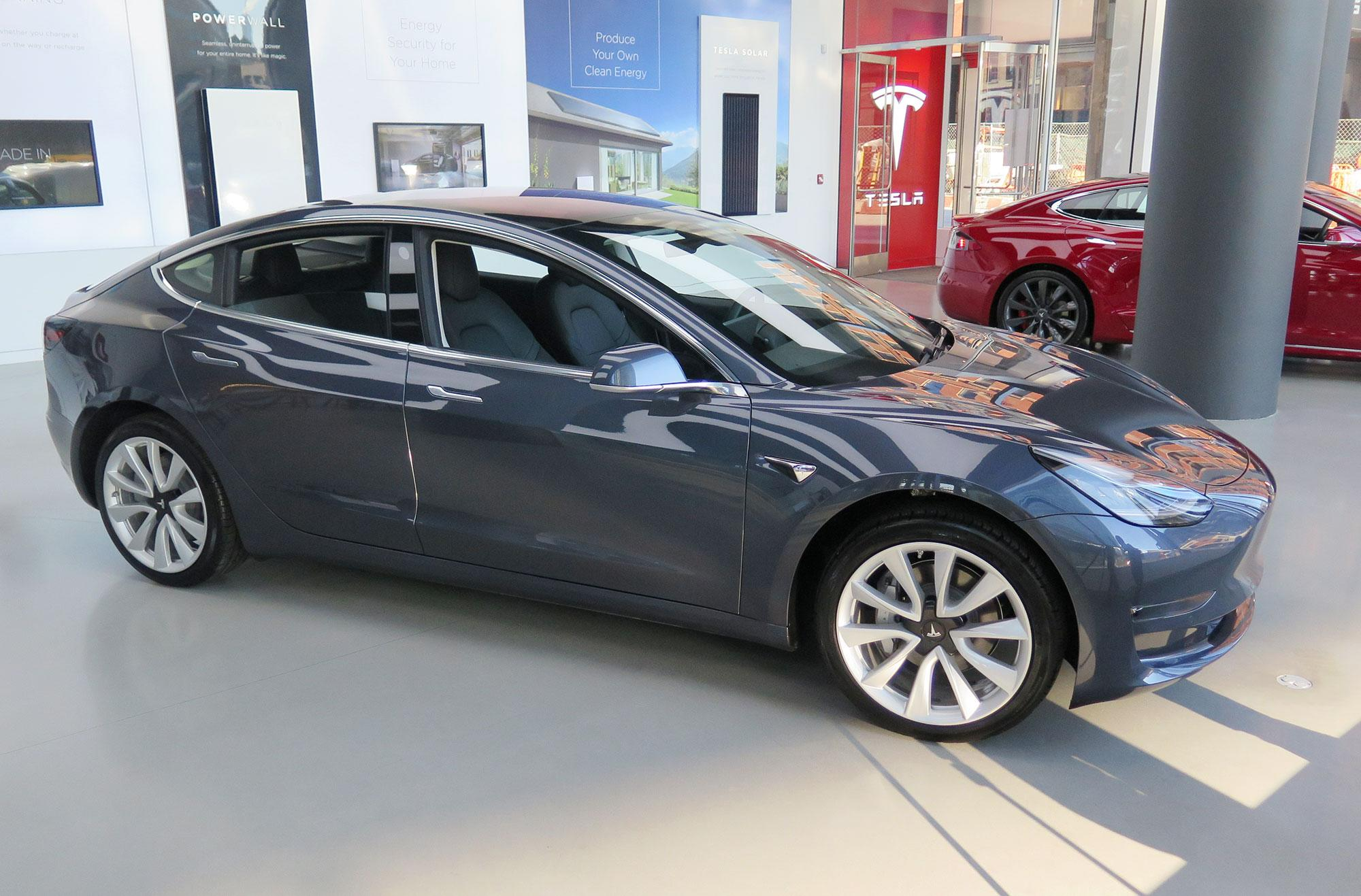 Tesla Bringing Model 3 To Three East Coast Showrooms