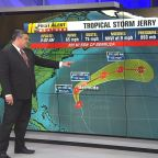 Tropical Storm Jerry, Tropical Storm Karen, Tropical Depression 13 are all churning in the Atlantic Ocean