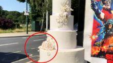 Bizarre photo of wedding cake stuns onlookers: 'Travesty'