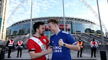 Football fans speak of 'surreal' atmosphere at FA Cup semi-final
