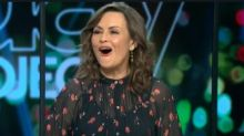 The Project host Lisa Wilkinson shocked by Tommy Little's joke