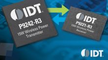 IDT Introduces Wireless Power Solution Supporting Authentication and Bi-Directional Data Transfer