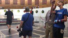 England Fans Lay Flowers at Volgograd World War II Memorial