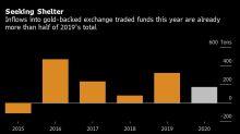 Inversores continúan refugiándose en oro con posiciones en ETF