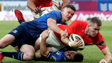 Leinster hold off Munster in Pro14 thriller as Edinburgh and Scarlets claim victories