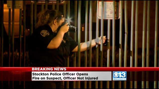 Stockton Police Officer Shoots Suspect Who Fired Weapon During Fight