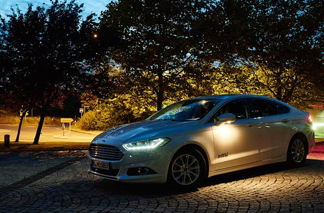 Ford's high-tech lighting system makes driving at night safer