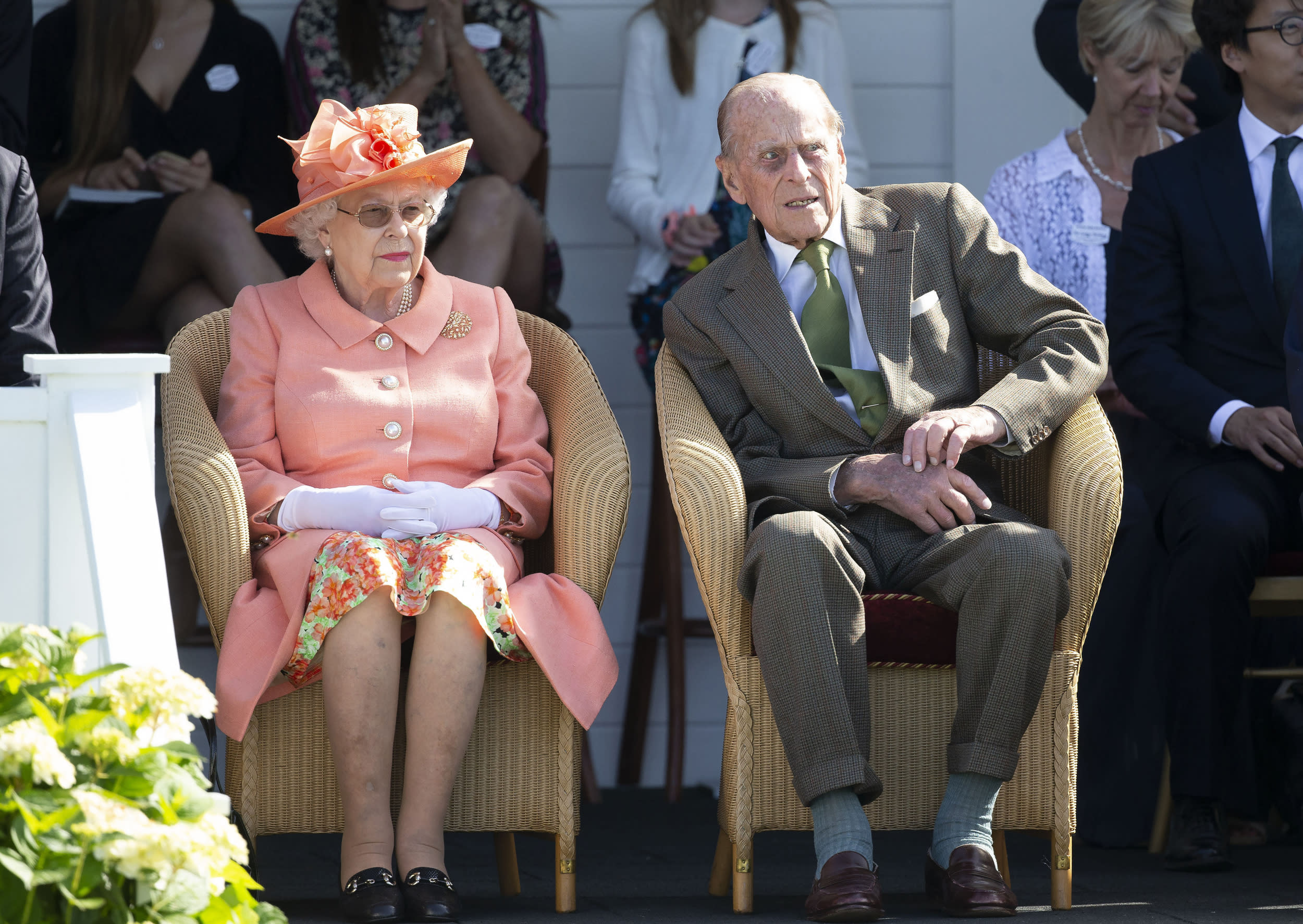 January 17, 2019 - Prince Philip The Duke of Edinburgh was not injured in a two-car crash as he was driving his Land Rover near Sandringham Estate. - File Photo by: zz/KGC-107/STAR MAX/IPx 2018 6/24/18 Her Majesty Queen Elizabeth II and Prince Philip The Duke of Edinburgh at the Royal Windsor Cup Final at the Guards Polo Club and the British Driving Society Annual Show at Smith's Lawn in Windsor Great Park. (Windsor, Berkshire, England, UK)