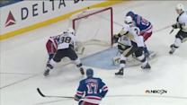 Mats Zuccarello taps in a rebound by Fluery