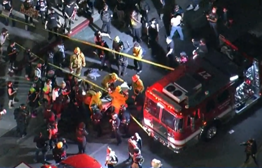 Vehicles drive through Breonna Taylor protesters in L.A.; 1 injured
