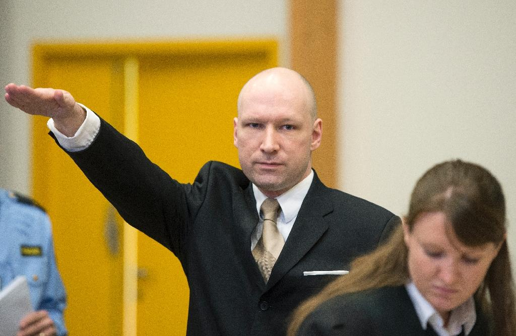 The New Zealand killer said he was inspired by Norway's Anders Breivik, who is serving a 21-year sentence for killing 77 people July 2011 (AFP Photo/JONATHAN NACKSTRAND)
