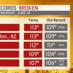 Record-challenging heat wave scorches western US