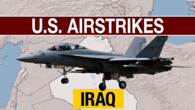 Raw: US Airstrikes, Airdrops in Iraq