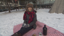What to do in winter? Have a picnic