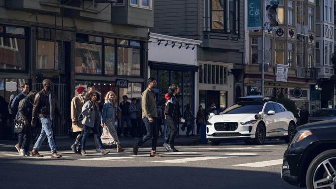 Waymo vehicle in San Francisco