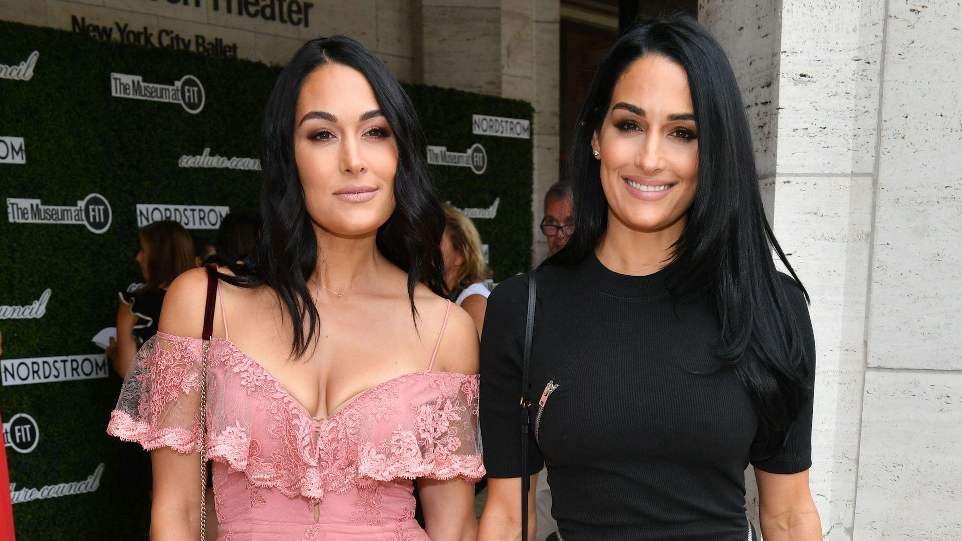 brie  nikki bella just did a totally naked twin pregnancy