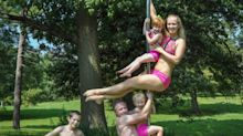 Meet the couple who pole dance with their children