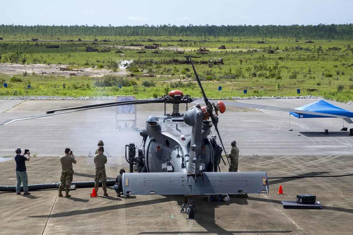 Air Force Begins Live-Fire Testing on New Helicopter, Jolly Green II