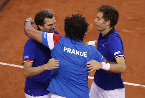 Julien Benneteau, Nicolas Mahut and Yannick Noah