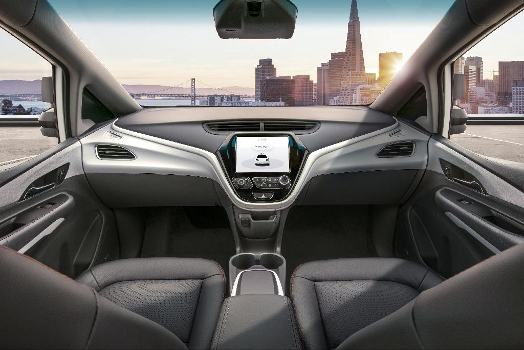 A protoype of Cruise AV, designed to operate safely on its own, with no driver, steering wheel, pedals or other manual controls, is seen in this 2018 photo from General Motors, which raised an additional $1.15 billion for the unit at $19 billion