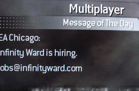 Infinity Ward reaches out to EA Chicago devs