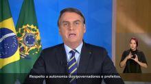 Bolsonaro: decisões sobre isolamento são de governadores e prefeitos