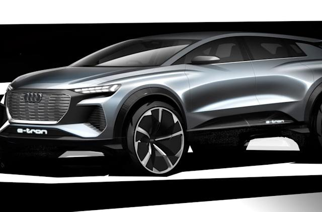 Audi teases its all-electric Q4 concept car