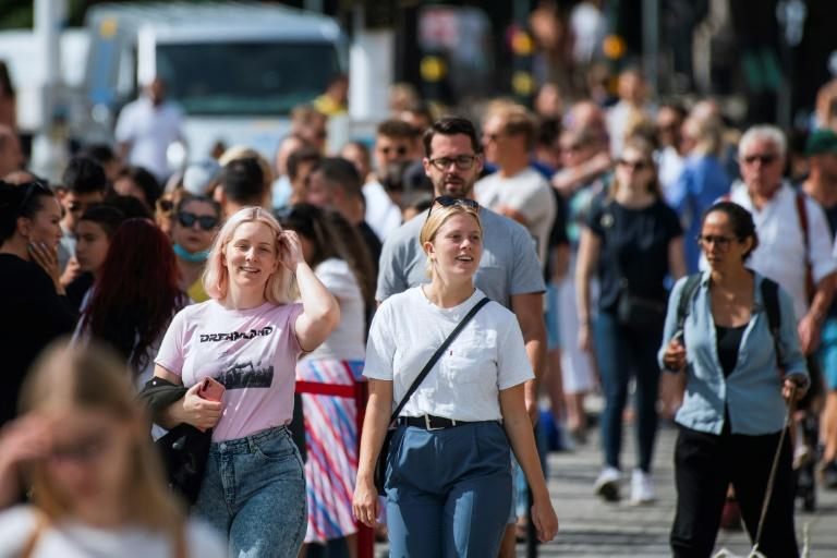 COVID-19 might have isolated Swedes from their Nordic neighbours, but they all seem to agree that masks are for the meek (AFP Photo/Jonathan NACKSTRAND)
