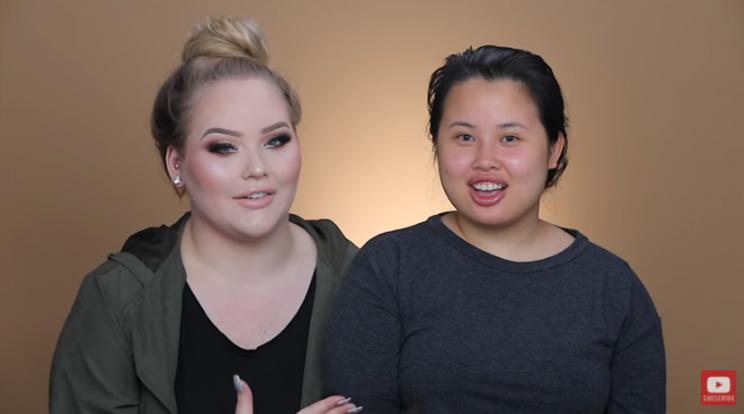 Nikkie Tutorials and Kim Thai before the transformation. (Photo: Youtube/NikkieTutorials)