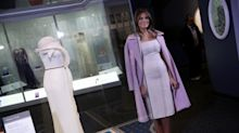 Melania Trump's inaugural ball gown has been cemented in history