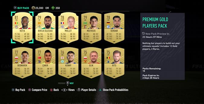 FIFA Ultimate Team Preview Pack