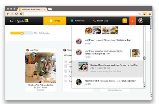 Springpad note-taking service gets interface overhaul, now an even worthier rival to Evernote