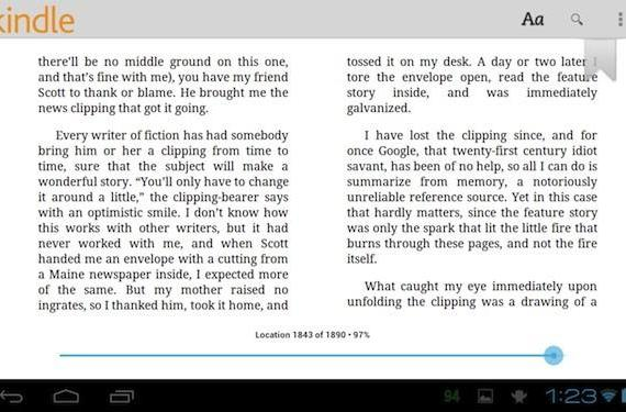 Amazon updates Kindle app for Android with improved tablet support