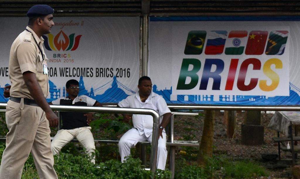 Leaders of the BRICS emerging nations are gathering for a summit in Goa, India (AFP Photo/Money Sharma)