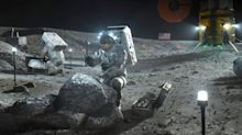 The moon is sprinkled with patches of frozen water, NASA scientists discovered. Mining it may be crucial for travel to Mars and beyond.