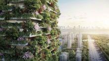 令空氣清新的垂直森林