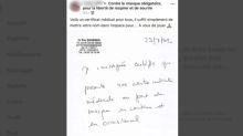 Une médecin publie sur Facebook des faux certificats médicaux pour refuser le port du masque