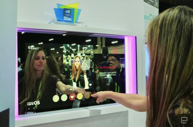 This smart mirror uses AR to let you 'try on' different hair styles