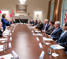 The most shocking part of the 'meltdown' photo Trump tweeted isn't who's in it — it's who isn't