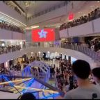 Hong Kong investigates booing of Chinese anthem during Olympics screening at mall