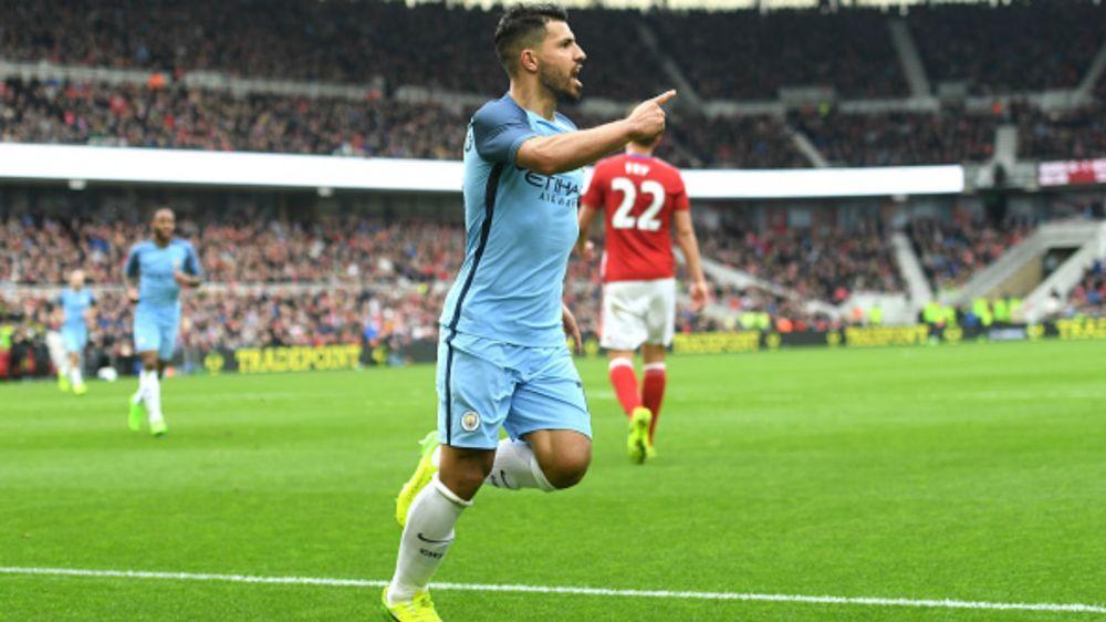Sergio Kun Agüero Manchester City 2017 Premier League